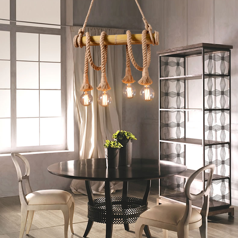 Vintage Industrial Loft Pendant Lights Fixture Hemp Rope Retro E27 Holder Wicker Pendant Lighting For Dining Room DIY Lamp vintage industrial loft pendant lights fixture hemp rope retro e27 holder wicker pendant lighting for dining room diy lamp