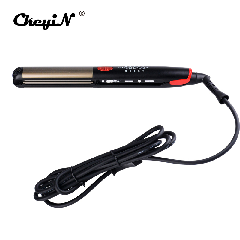 Electric Hair Straightener Professional LED Flat Iron Hair Curler Straightening Curling Irons Straight Hairstyle Styling Tools 0 km 2209 professional hair flat iron curler hair straightener irons 110v 220v eu plug tourmaline ceramic coating styling tools