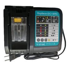 Li-ion Battery Charger 6A Charging Current for Makita 14.4V 18V BL1830 Bl1430 DC18RC DC18RA Power tool DC18RCT Charge 4a dual usb port 7 2v 18v li ion fast battery charger for makita 18v bl1415 bl1430 bl1840 bl1830 bl1440 power tool battery charg