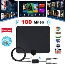 هوائي تلفاز رقمي داخلي مع مقوي إشارة مكبر صوت تلفاز نصف قطر هوائيات تلفاز تصفح هوائيات HDTV Freeview TDT كابل تلفزيون ثعلب هوائي