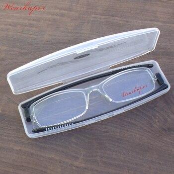 89127ba56a WEARKAPER de moda ultraligero girar plegable gafas de lectura portátil Slim TR90  Marco de las mujeres