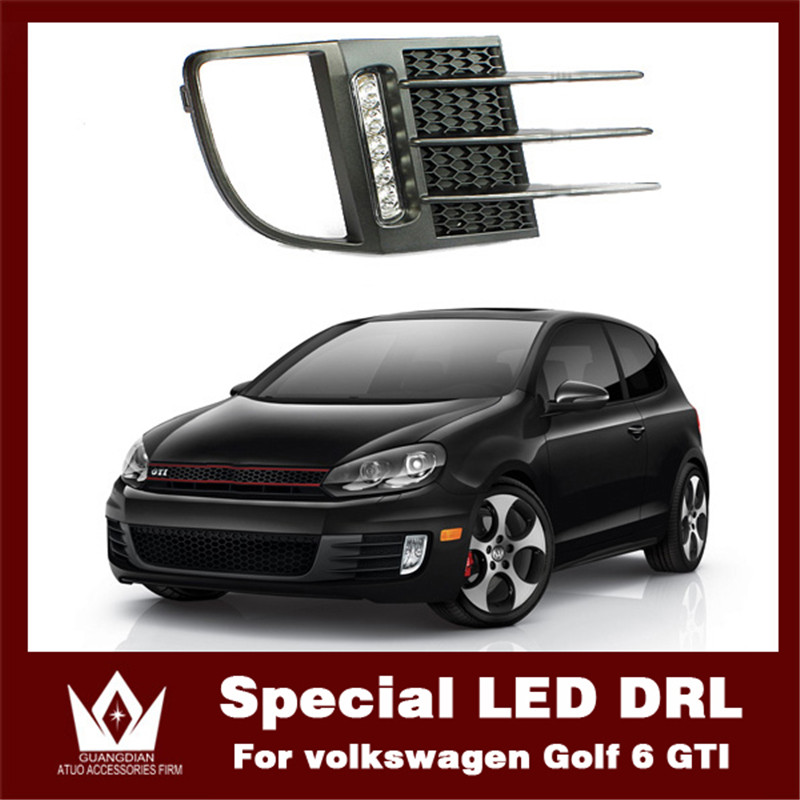 Night lord 2010-2012 Car light DRL Brightness fog light For VW Golf 6 GIT Daytime running light  drl Free shipping