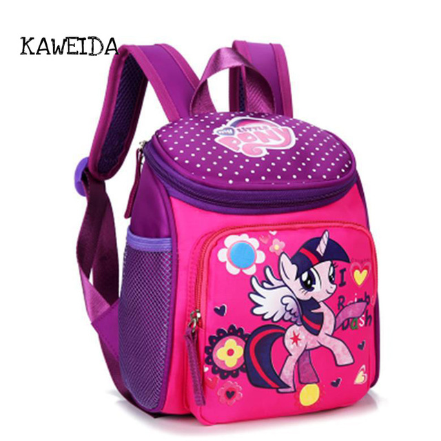 My Little Pony School Bags For Toddler Kids Cute Children Mini O Kitty Schoolbag Red Mickey