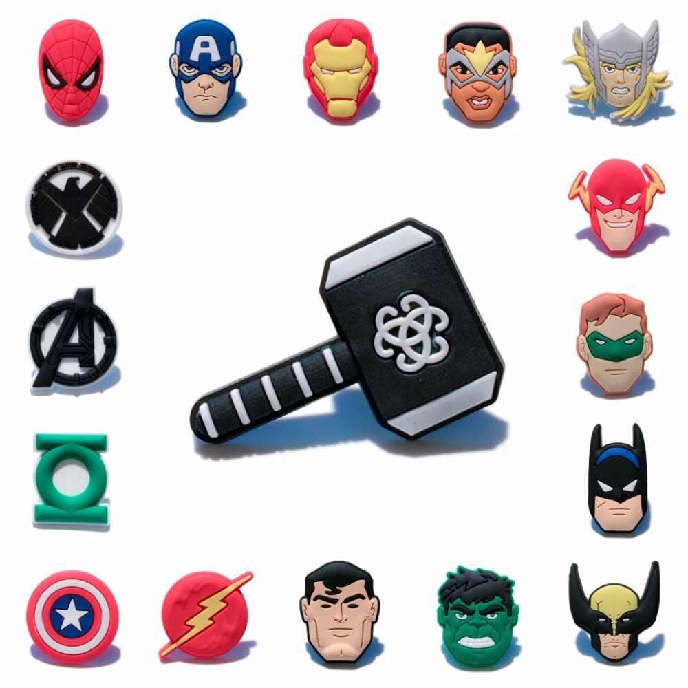 1 Pcs Marvel Avengers PVC Ikon Kartun Bros Pin Lencana Anime Figure Super Hero Pin Tombol Lencana Ransel Pakaian Topi dekorasi