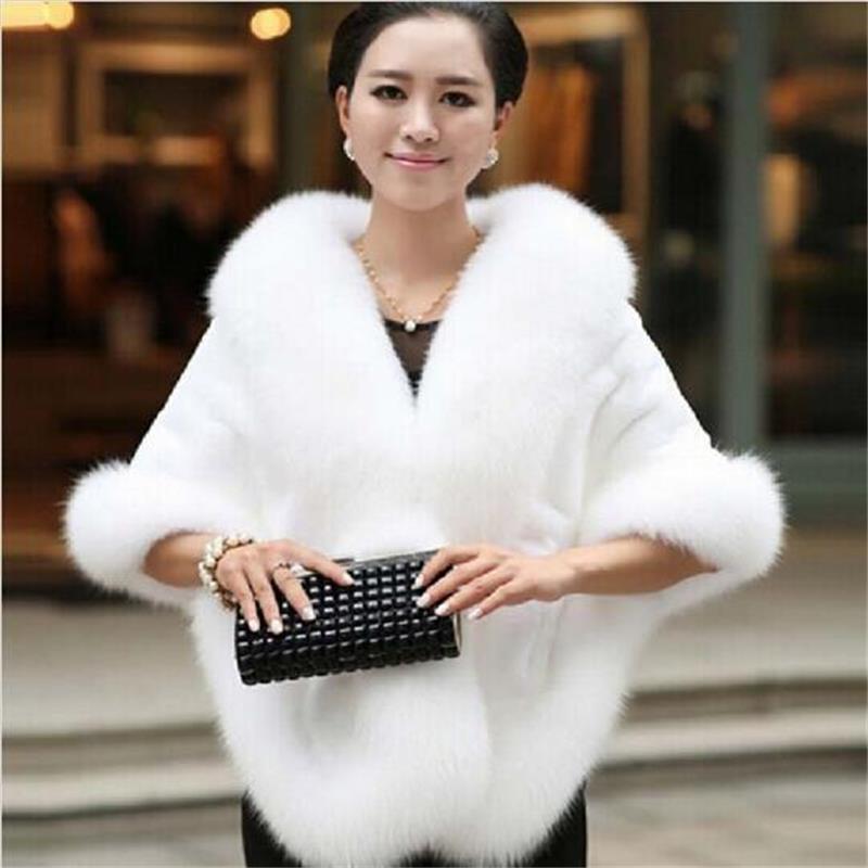 Warm black Fox Rabbit New Outerwear Faux Women's Mink Winter Red Autumn wine Fur Gilet Shawls dark Fashion Coat Grey Vest 2019 white Wedding Red And vCRYYw