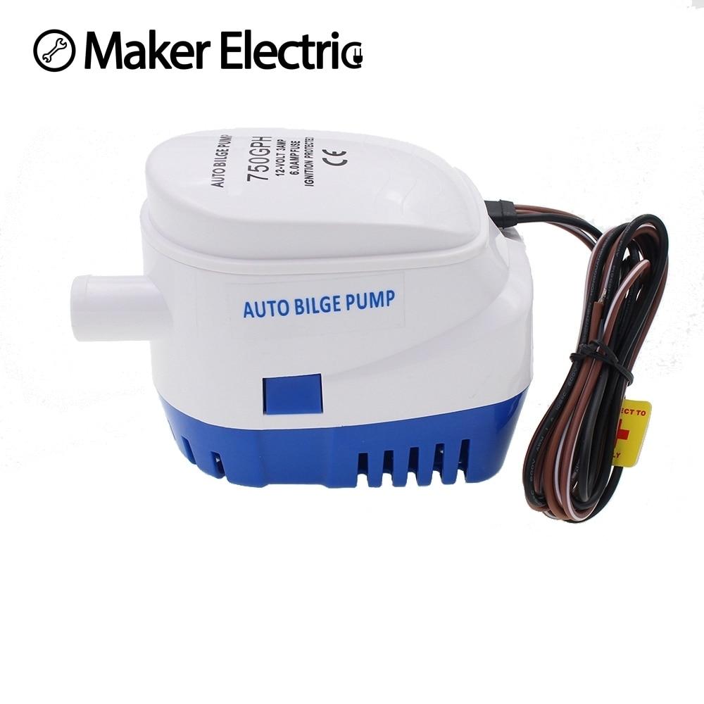 water pump MKBP1 G750 06 750GPH 12v automatic boat bilge pumps for ...