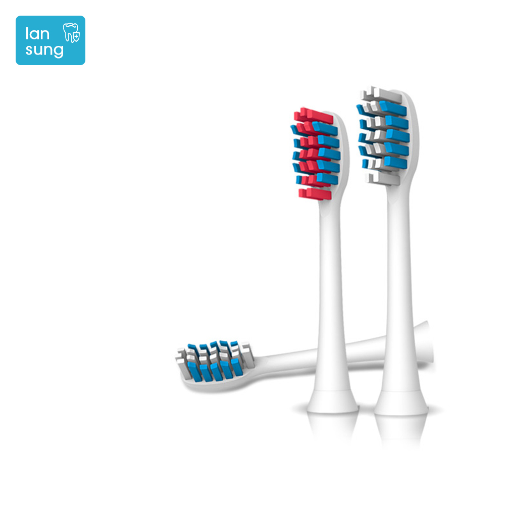 Lansung electric toothbrush heads replacement Toothbrush Heads for U1 A39plus A1 SN901 902 head of toothbrushes head brush   3 2pcs philips sonicare replacement e series electric toothbrush head with cap