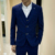 Retro traje a cuadros para hombre de moda Slim Fit trajes de boda para hombre diseña la ropa traje homme chaqueta para hombre chaquetas de esmoquin 3 Sets