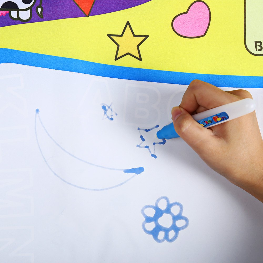 Kids Magic Water Drawing Painting Writing Doodle Mat Board Toys Pen