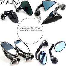 Universal 7/8 22mm handle bar motorcycle end mirror Motorcycle Mirror For BMW Ducati Aprilia Cafe Racer Victory Triumph
