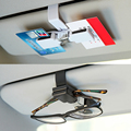 Sun Visor Clamp Car Glasses Holder Case Universal For Focus Toyota Muiti-purpose Tickets Cards Clips Sunglasses Holder