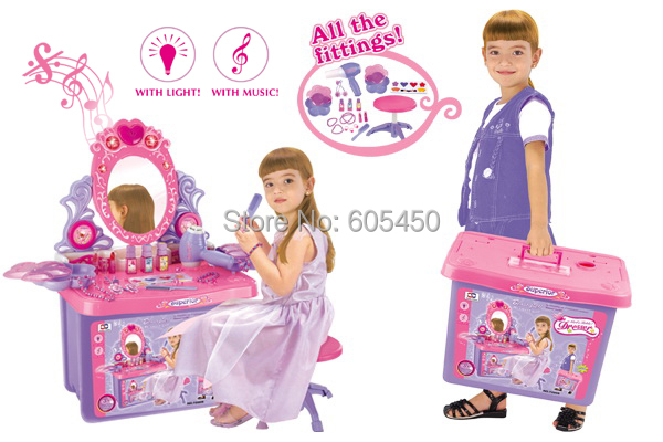little girl makeup toys child accessories toy storage box princess combination set in furniture. Black Bedroom Furniture Sets. Home Design Ideas