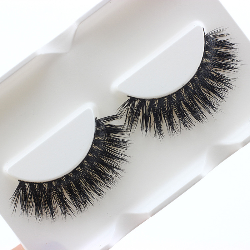 1pair Handmade Black Voluminous Eyelashes False Eyelashes Natural Makeup Very Thick Long Fake Eye Lashes Extention Tools Beauty