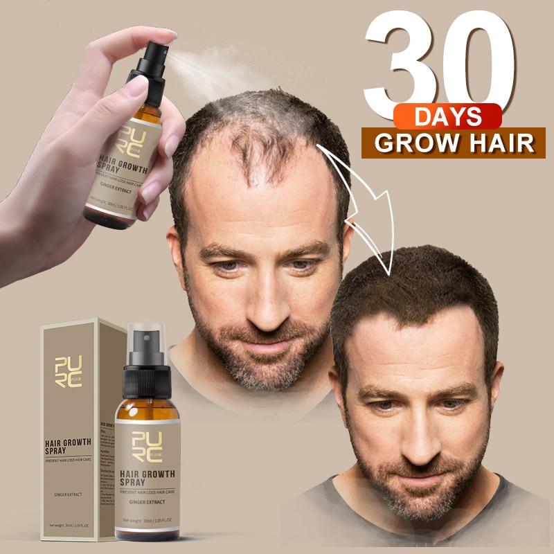 PURC New Product 30ml Hair Care Treatment Hair Ginger Growth Spray Extract Prevent Hair Loss/Beard Growing Facial Hair For Men