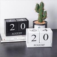 Деревянный календарь, сделай сам, планировщик, настольный календарь, органайзер, подставка для дома, офиса, Декор, деревянный вечный календа...