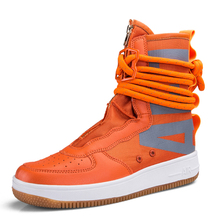huge selection of 5cf38 308d3 SF-AF1 AF1 Enroulement Grande Taille Planche À Roulettes Chaussures  Sneakers pour Hommes Zipper High Top Femmes Sport Chaussures.