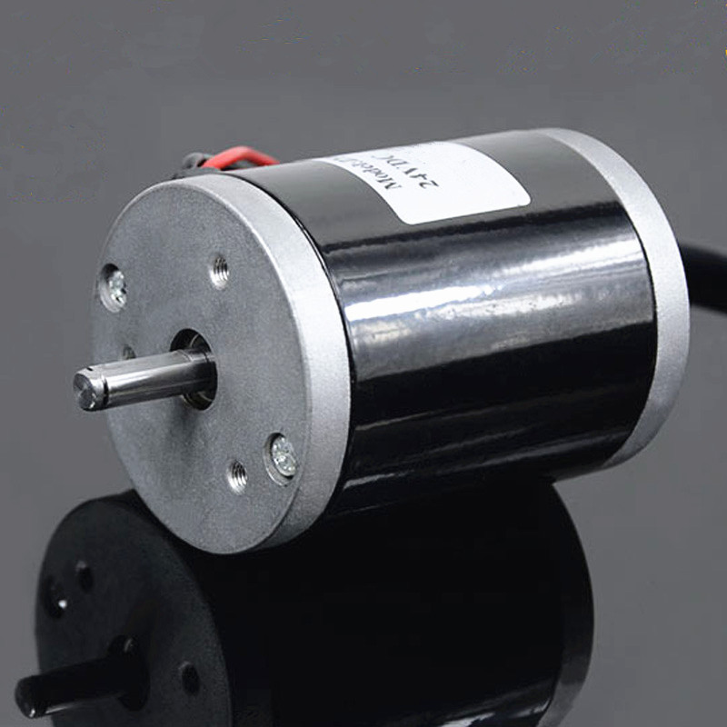24V 120W 3500rpm Large torque low noise double ball bearing micro beads lathe DC motor J17664