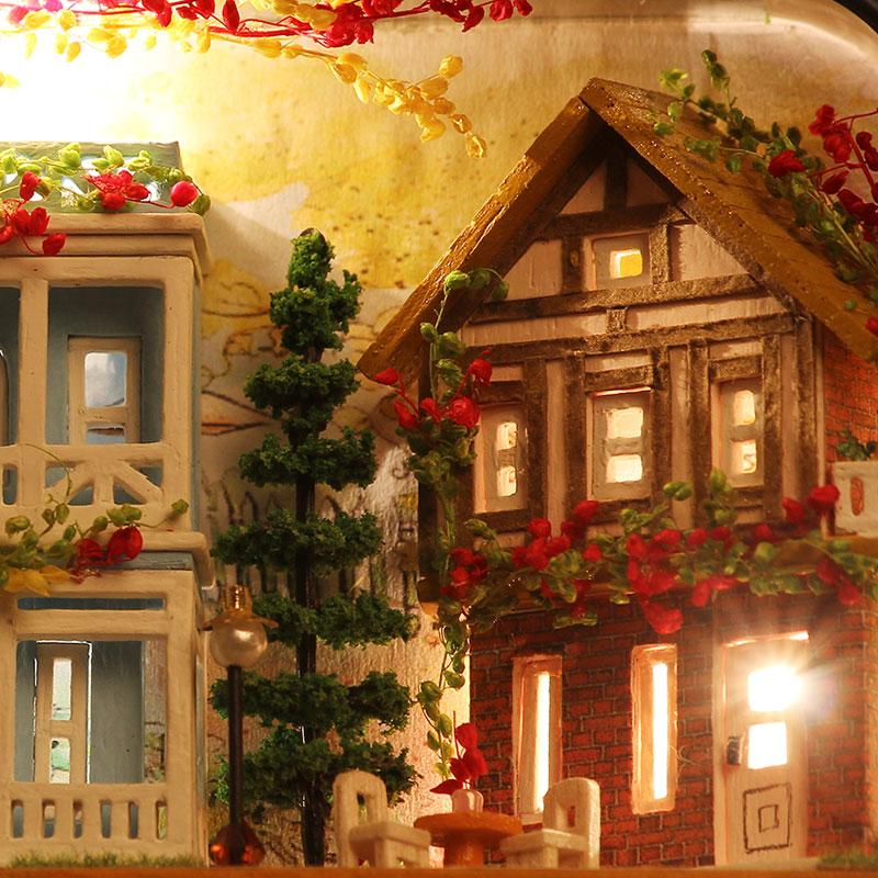 Miniatur Rumah Boneka DIY Kotak Kayu Dollhouse Theatre 3D Rumah - Boneka dan mainan lunak - Foto 4