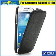 Вертикальная личи кожа флип чехол для samsung galaxy s4 mini i9190 i9192 luxury leather case