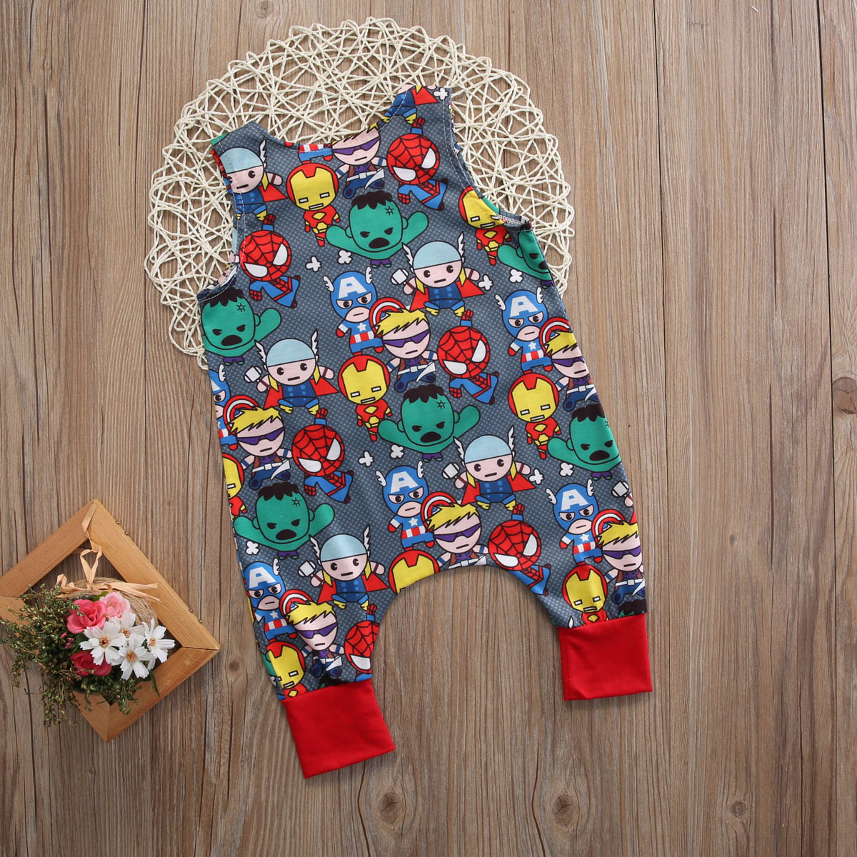 d7c92e8e6 Carton Marvel Superhero Group Summer Newborn Baby Boy Romper Hero Long  Jumpsuit Pattern Kids Clothes of Boy-in Rompers from Mother & Kids on  Aliexpress.com ...