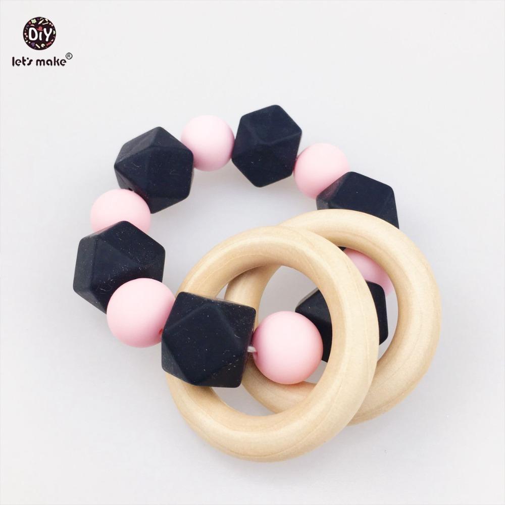 cordn elstico negro y rosa enfermera orgnica pulsera materiales de calidad alimentaria beb cuna de juguete