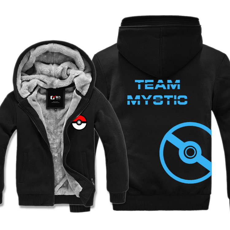 Pokemon Go Team Valor Mystic Instinct Moltres Zapdos Articuno Hoodies Sweatshirt Men Casual Male Jackets Hoody Cloak Shawl