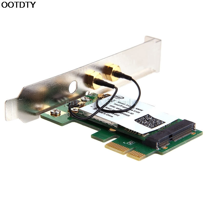300M 2.4/5GHz PCI-E X1 X16 Ordinateur PC double bande WIFI Bureau WLAN Carte