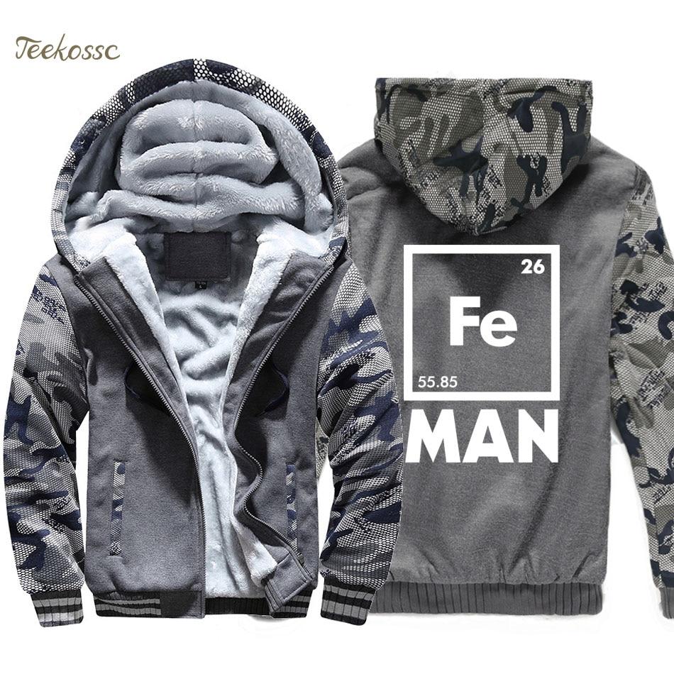 Iron Man Science Jacket Men Cool Novelty Funny Superhero Sweatshirt Coat Winter Thick Fleece Warm Hoodie Casual Streetwear Homme in Hoodies amp Sweatshirts from Men 39 s Clothing