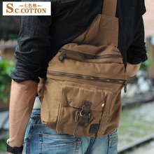 S.C.Cotton Chest and Waist Shoulder Canvas Waterproof European and American Style Traveling Leisure Man's Free Shipping Bag