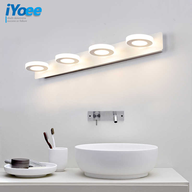Nordic White Bathroom Led Wall Lamps Makeup Table