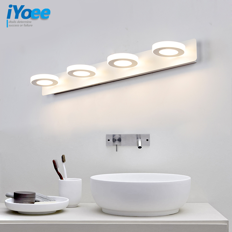 Nordic White Bathroom LED-vegglamper Makeupbord Veggbelysning Vanity Speil LED-lys Sconces Indoor Hjem Vegglampearmaturer