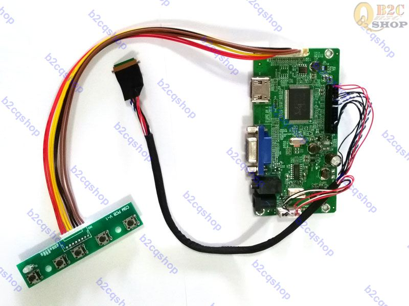 Lcd Controller Driver Board Lvds Inverter-konverter Monitor Kit-drehen 1366x768 Panel Claa156wb11a Nt68676 hdmi + Dvi + Vga + Audio