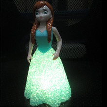 Luces led de colores decorativos lámparas Elsa muñeca de juguete luz de la noche para los niños, bebé, niños envío gratis