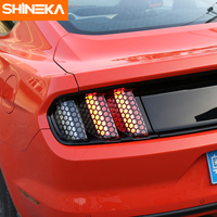 Car Sticker Rear Tail Light Sticker Film Trim Lamp Cover Paste Honeycomb Molding Trim For Ford
