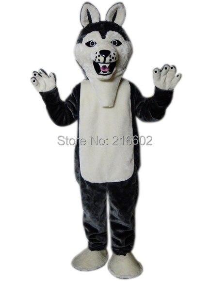 Cosplay costumes loup-chien HI Husky chien mascotte Costume carnaval Costume Costumes fête mascotte noël Halloween