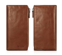 Universal Men Case For Iphone 6 7plus Icarer Vintage Genuine Leather Wallet Zip Case For Samsung