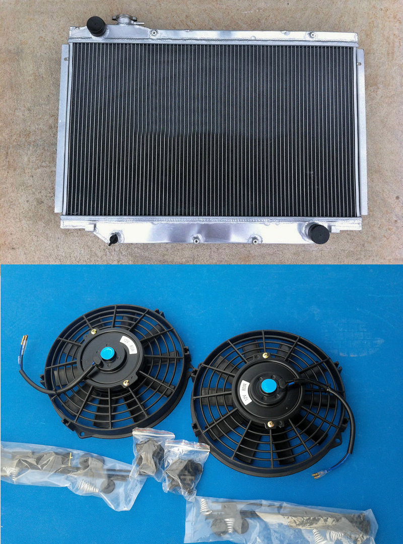 Aluminum Radiator FAN FOR TOYOTA Landcruiser Land cruiser HDJ80 HZJ80 HDJ 80 MT