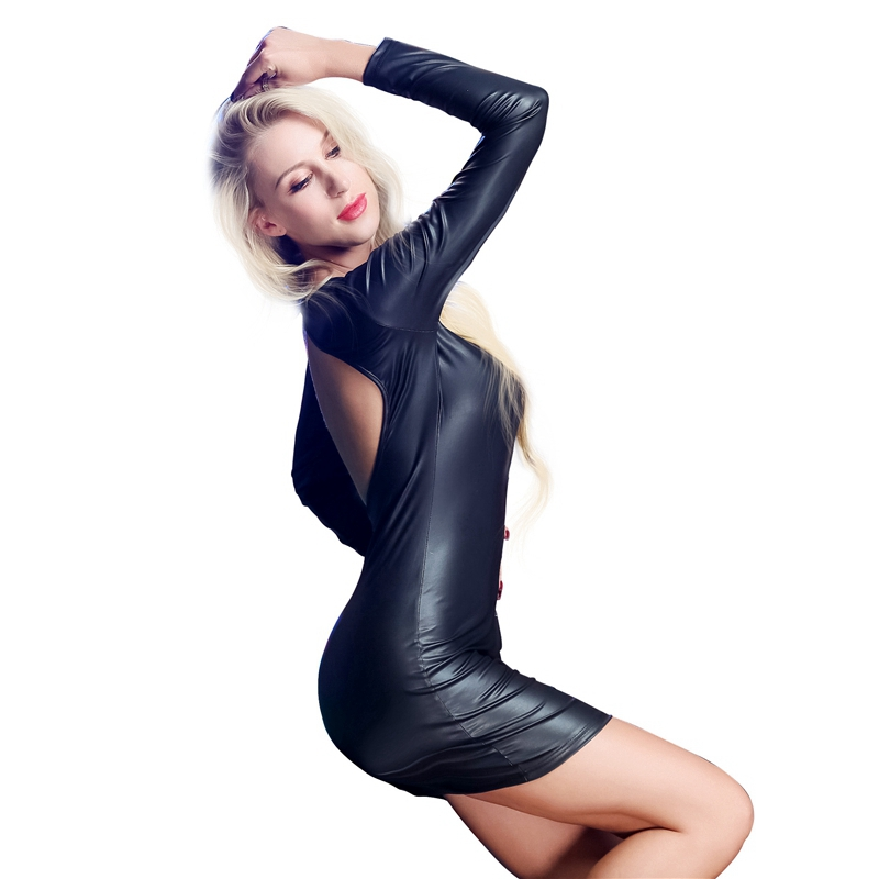 pu leather dress (1)