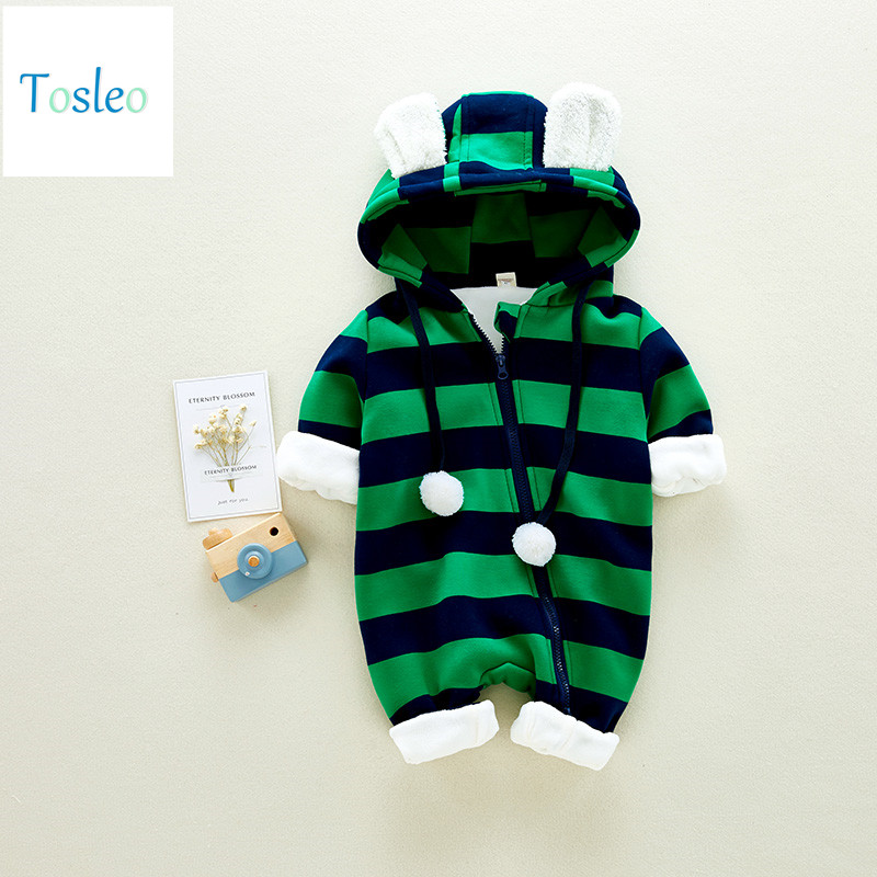 2018 Tosleo Baby Boy Clothes Unisex Toddler Rompers Newborn Kids Clothes Winter Children Striped Clothing Baby Girl Colthes платье для девочек jilly 2015 colthes baby j 184568 page 1