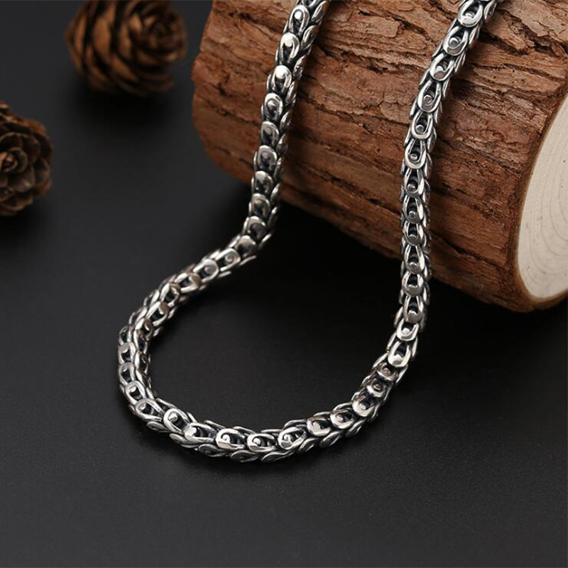 1799981d5 ... Initial Necklace 100% 925 Sterling silver Dragon Scale Chain Africa  Pendant. sku: 32992433534