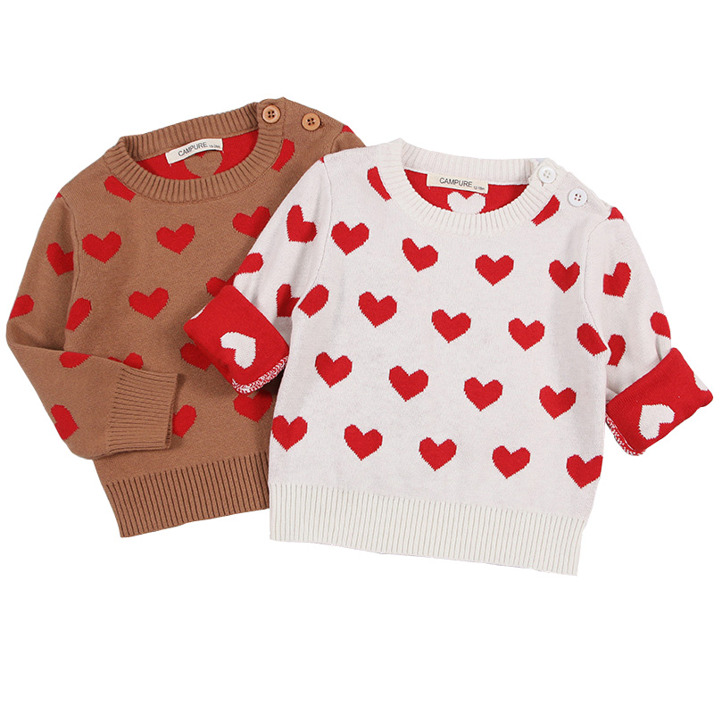 2018 Parent-child Outfits Cute Love Family Look Sweaters Family Matching Outfits Mother Kids Girls Boys Knit Sweater BC276
