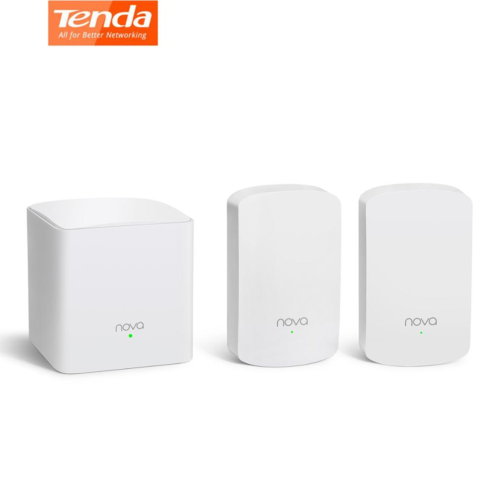 Tenda Nova MW5 sans fil Wifi routeurs à mailles AC1200 double bande 2.4 Ghz/5.0 Ghz Wi-fi répéteur système d'extension APP à distance pour la maison Soho