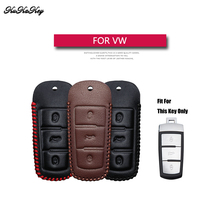 Genuine Leather Remote Keyless Car Key Case Cover For Volkswagen VW B8L B8 Passat CC Magotan Holder Bag