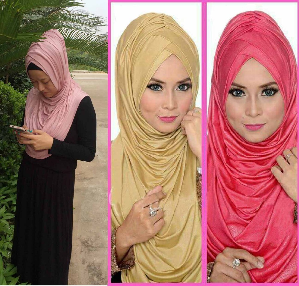 12peices lot ONE PIECE pull on instant muslim hijab AMIRAH PLEATED HIJAB SCARF can choose