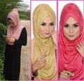 ONE PIECE puxe instantânea muçulmano hijab AMIRAH PLISSADO CACHECOL HIJAB, pode escolher as cores JLS105