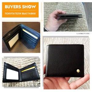 Image 5 - LAORENTOU portefeuille hommes 100% en cuir véritable court portefeuille Vintage en cuir de vache porte monnaie portefeuilles occasionnels porte monnaie porte cartes Standard