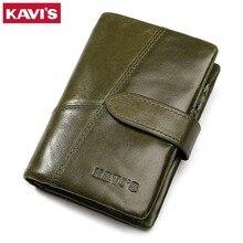 Kavis女性財布女性革コイン財布と小さなwalet portomonee女性緑ジッパーperseカードホルダーperse