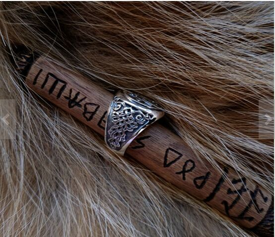 Handcrafted Slavic Valkyrie Ring Norse Jewelry Viking Jewelry Men