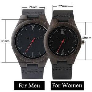 Image 4 - Liefhebbers Geschenken Luxe Royal Ebbenhout Horloge Mens Fashion Houten Vrouwen Jurk Klokken Mannelijke Lederen Valentijnsdag Relojes
