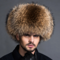 2016 New Solid Adult Unisex Winter Luxury Natural Fox Fur Hats For Brand Famous Male Hat Warm Real Leather Bomber